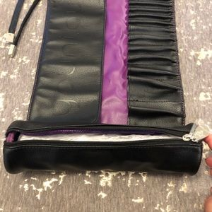 Younique Bags - NWT Younique Black & Purple Brush Roll